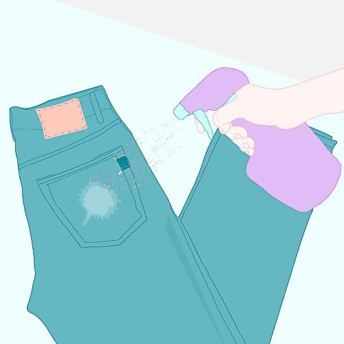 How to lighten jeans