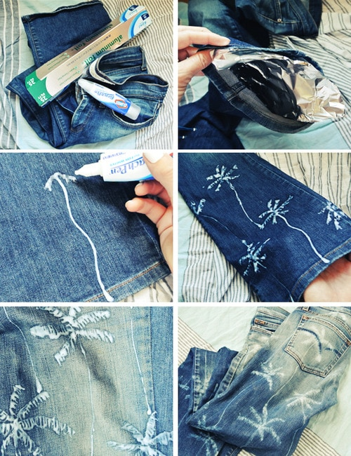 Bleach Pen Jean Art