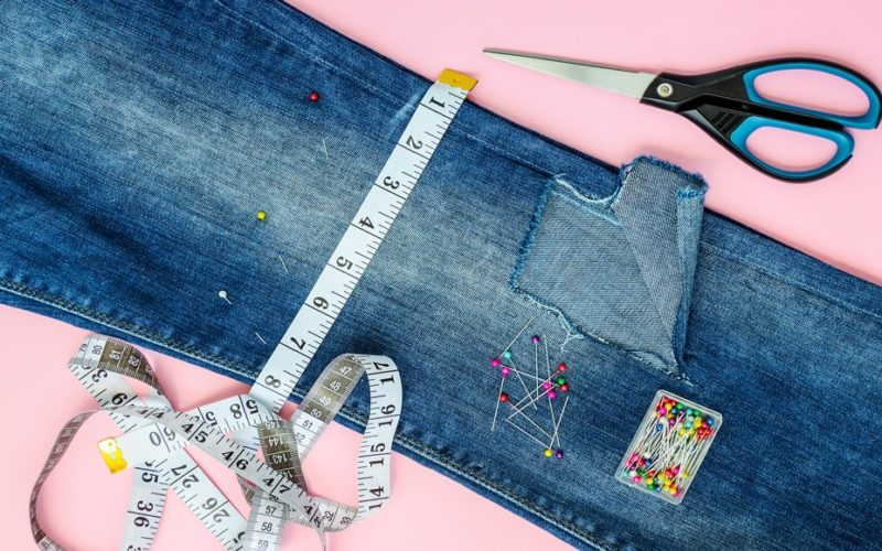 how to hand sew jeans