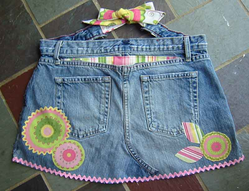 craft apron out of your old jeans