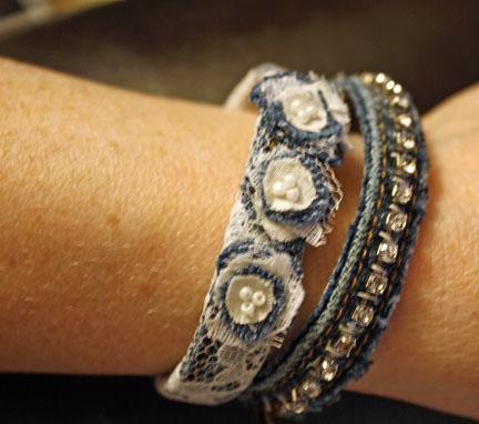 amazing denim bracelets