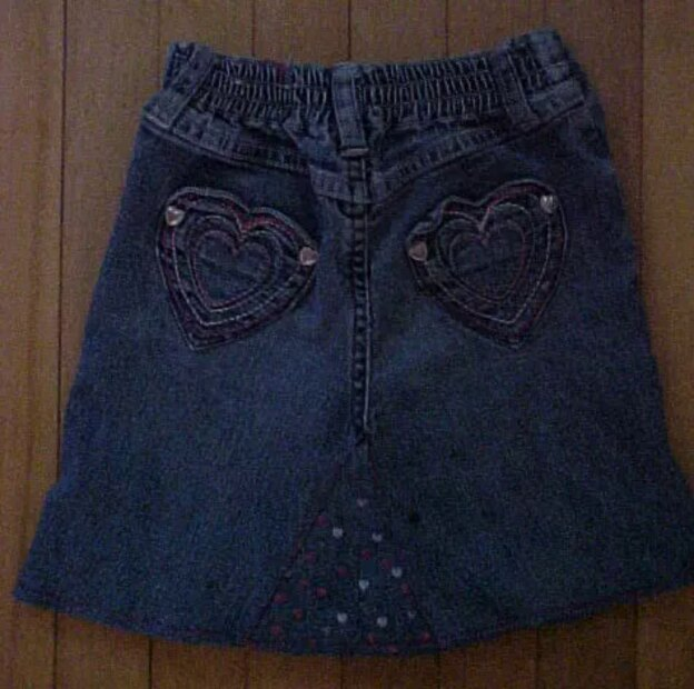 Turn Jeans into Skirt