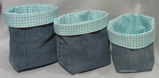 DIY Easy Denim Basket - How To Sew