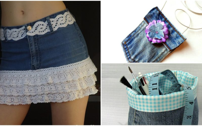 how to reuse old jeans to make new clothes