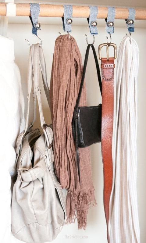 denim closet organizers for scarves