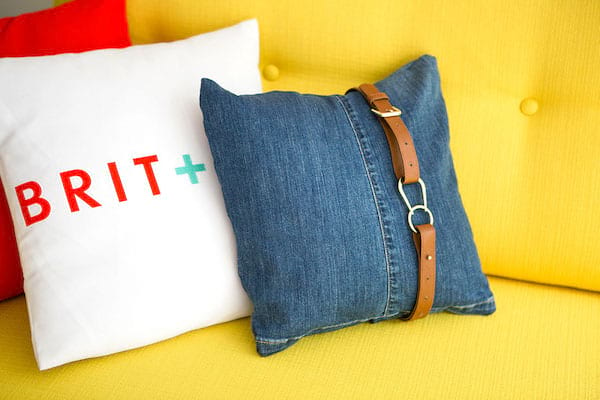Upcycle Jeans into Pillows