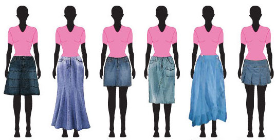 Denim Skirt Types