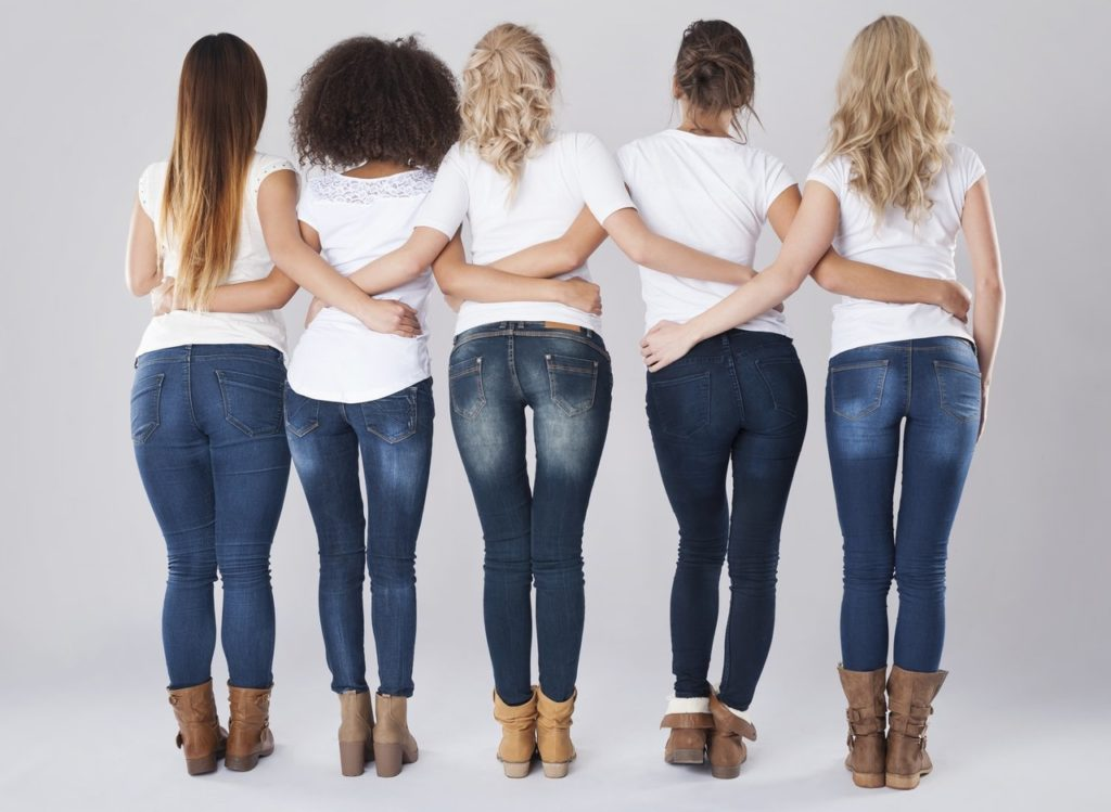 Fitting Jeans body type